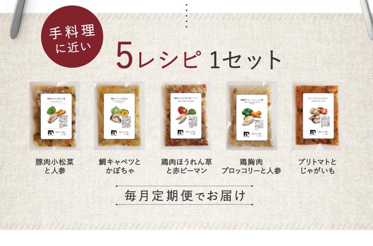 5レシピ1セット